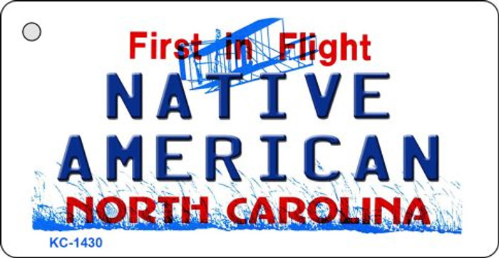 Native American North Carolina State License Plate Key Chain KC-1430