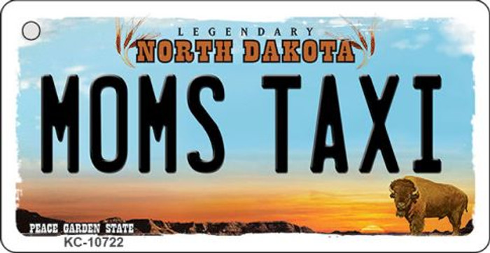 Moms Taxi North Dakota State License Plate Key Chain KC-10722