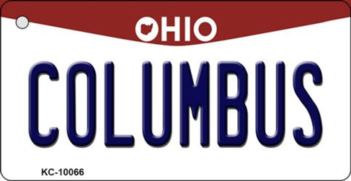Columbus Ohio State License Plate Key Chain KC-10066