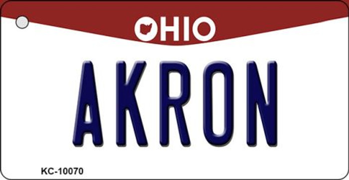 Akron Ohio State License Plate Key Chain KC-10070