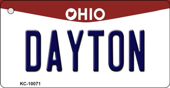 Dayton Ohio State License Plate Key Chain KC-10071