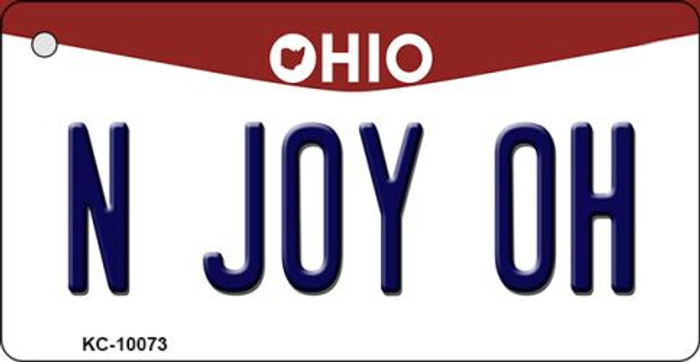 N Joy OH Ohio State License Plate Key Chain KC-10073