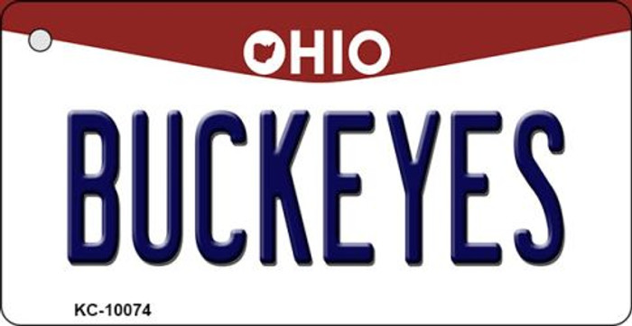 Buckeyes Ohio State License Plate Key Chain KC-10074