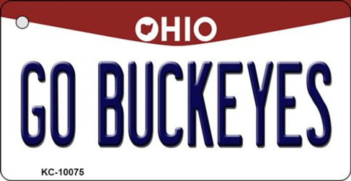 Go Buckeyes Ohio State License Plate Key Chain KC-10075