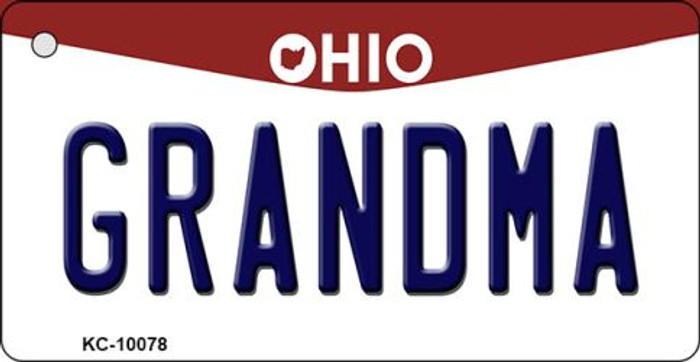 Grandma Ohio State License Plate Key Chain KC-10078