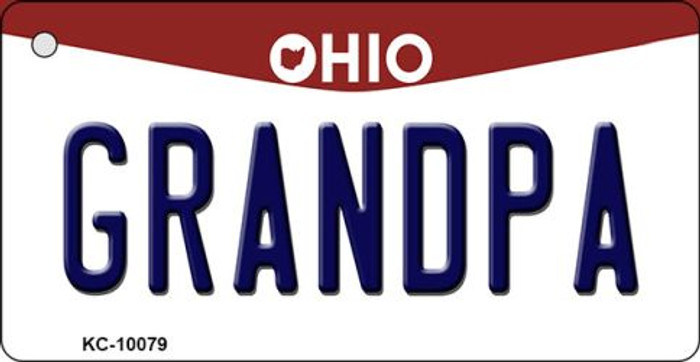 Grandpa Ohio State License Plate Key Chain KC-10079
