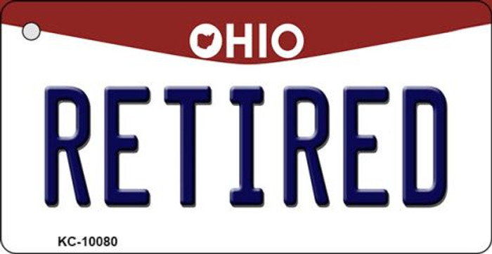 Retired Ohio State License Plate Key Chain KC-10080
