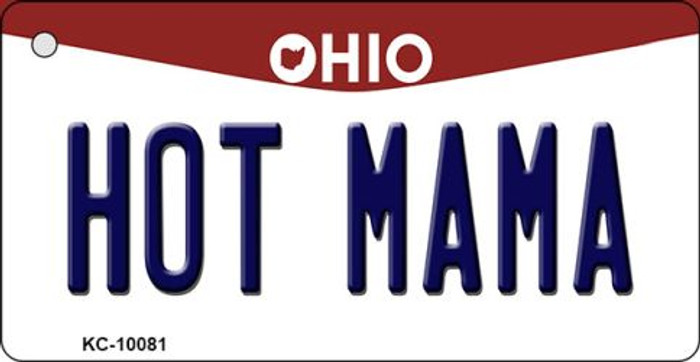 Hot Mama Ohio State License Plate Key Chain KC-10081