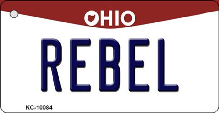 Rebel Ohio State License Plate Key Chain KC-10084