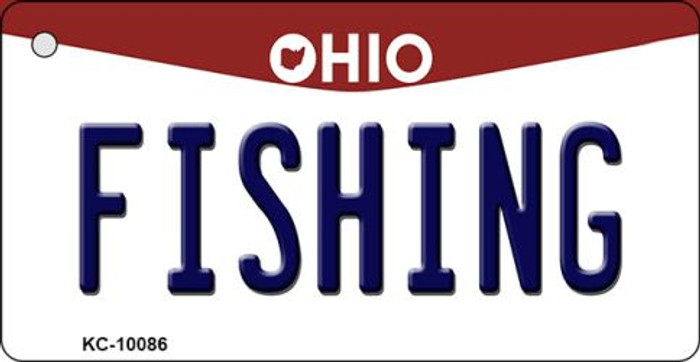 Fishing Ohio State License Plate Key Chain KC-10086