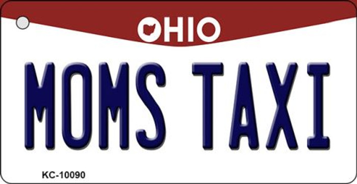 Moms Taxi Ohio State License Plate Key Chain KC-10090