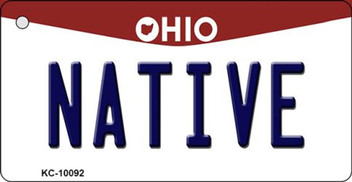 Native Ohio State License Plate Key Chain KC-10092