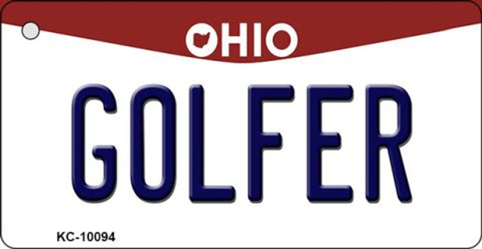 Golfer Ohio State License Plate Key Chain KC-10094