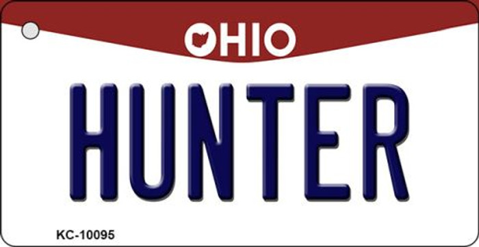 Hunter Ohio State License Plate Key Chain KC-10095