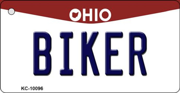 Biker Ohio State License Plate Key Chain KC-10096