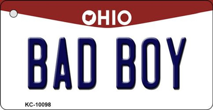 Bad Boy Ohio State License Plate Key Chain KC-10098