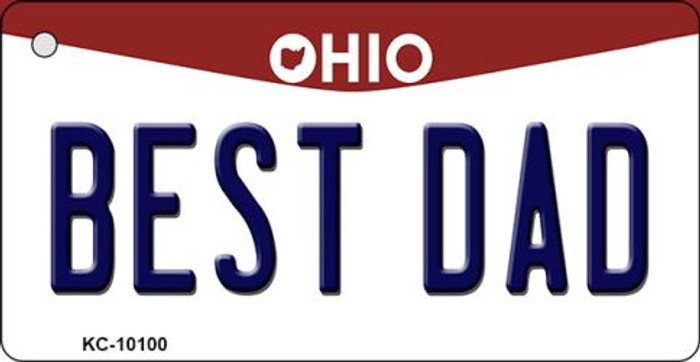 Best Dad Ohio State License Plate Key Chain KC-10100