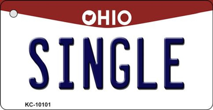 Single Ohio State License Plate Key Chain KC-10101