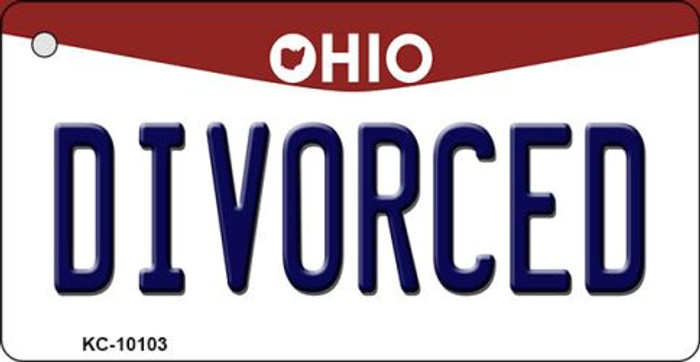 Divorced Ohio State License Plate Key Chain KC-10103