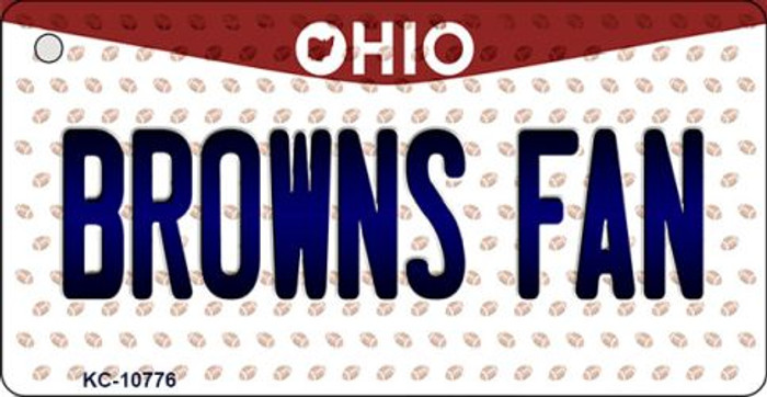 Browns Fan Ohio State License Plate Key Chain KC-10776