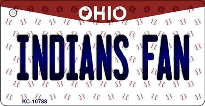 Indians Fan Ohio State License Plate Key Chain KC-10788