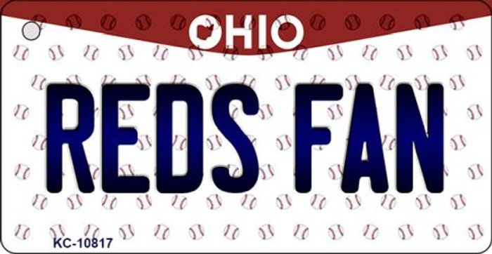 Reds Fan Ohio State License Plate Key Chain KC-10817
