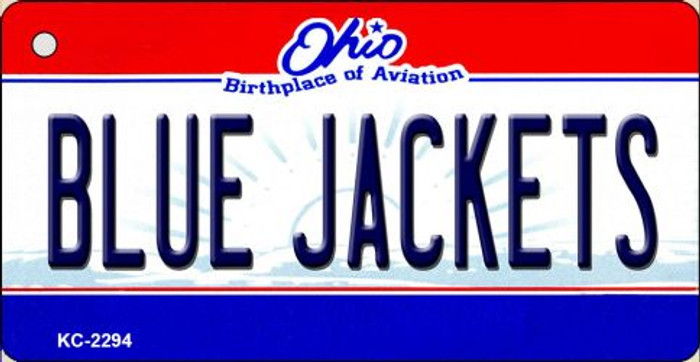 Blue Jackets Ohio State License Plate Key Chain KC-2294