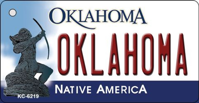 Oklahoma State License Plate Novelty Key Chain KC-6219