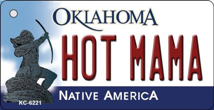Hot Mama Oklahoma State License Plate Novelty Key Chain KC-6221