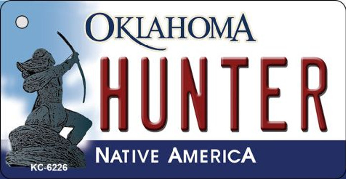 Hunter Oklahoma State License Plate Novelty Key Chain KC-6226
