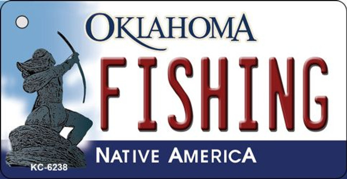 Fishing Oklahoma State License Plate Novelty Key Chain KC-6238