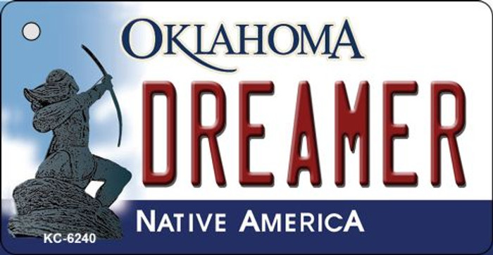 Dreamer Oklahoma State License Plate Novelty Key Chain KC-6240