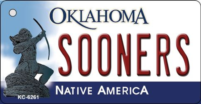 Sooners Oklahoma State License Plate Novelty Key Chain KC-6261