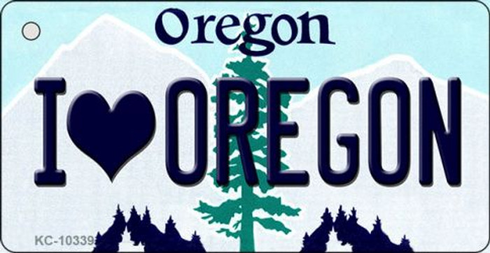 I Love Oregon Oregon State License Plate Key Chain KC-10339