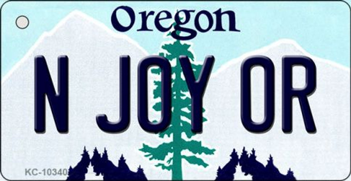 N Joy OR Oregon State License Plate Key Chain KC-10340