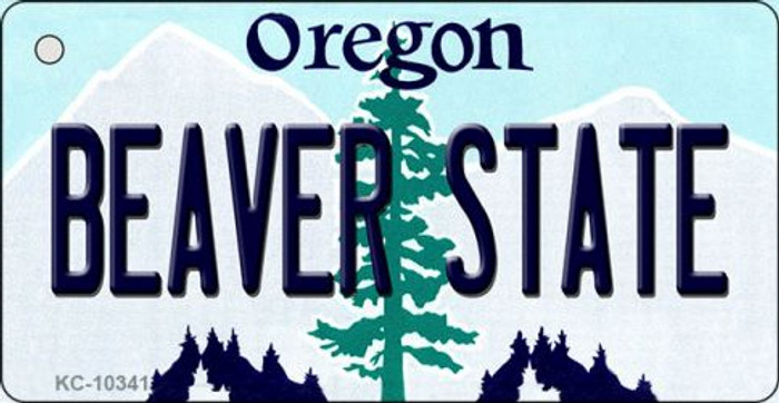 Beaver State Oregon State License Plate Key Chain KC-10341