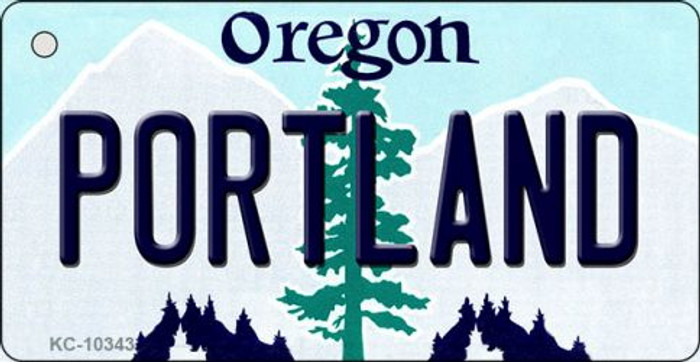 Portland Oregon State License Plate Key Chain KC-10343