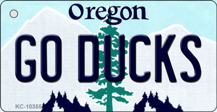 Go Ducks Oregon State License Plate Key Chain KC-10355