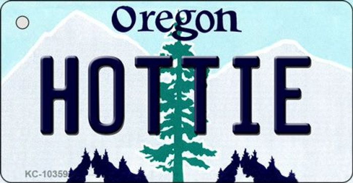 Hottie Oregon State License Plate Key Chain KC-10359