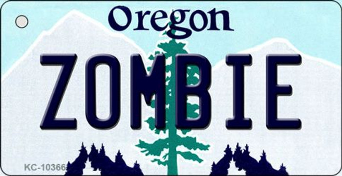 Zombie Oregon State License Plate Key Chain KC-10366