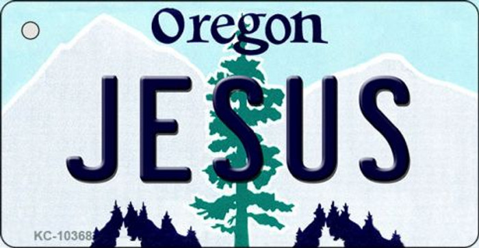 Jesus Oregon State License Plate Key Chain KC-10368
