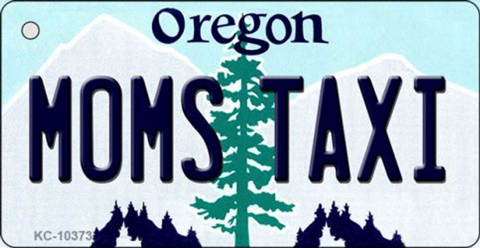 Moms Taxi Oregon State License Plate Key Chain KC-10373