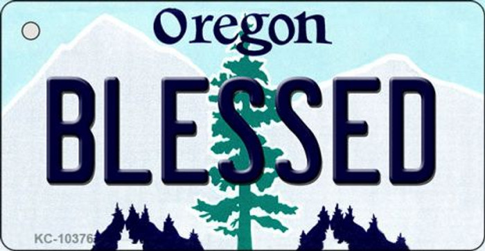 Blessed Oregon State License Plate Key Chain KC-10376