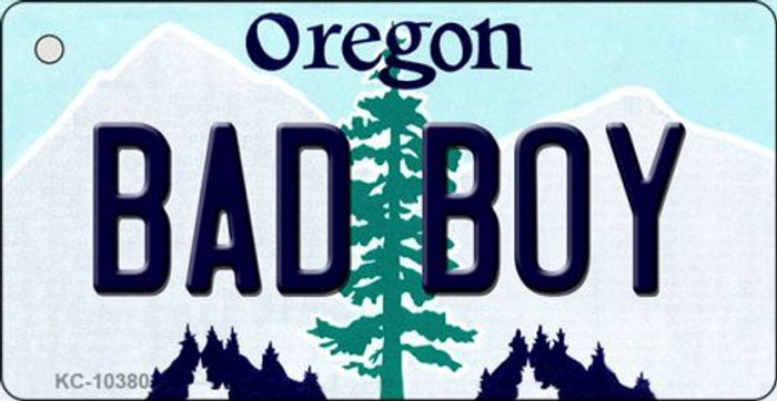 Bad Boy Oregon State License Plate Key Chain KC-10380