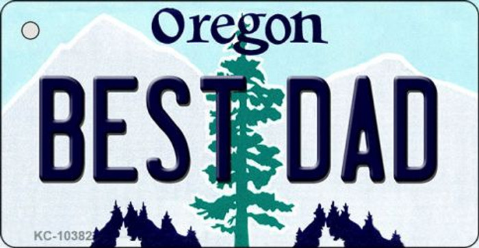 Best Dad Oregon State License Plate Key Chain KC-10382