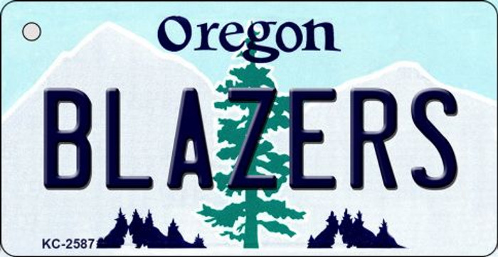Blazers Oregon State License Plate Key Chain KC-2587