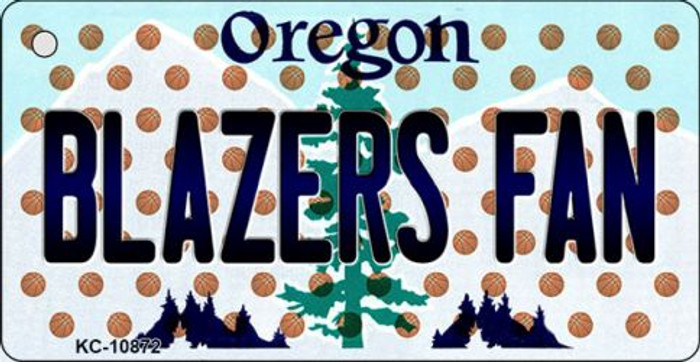 Blazers Fan Oregon State License Plate Key Chain KC-10872