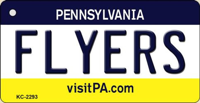 Flyers Pennsylvania State License Plate Key Chain KC-2293