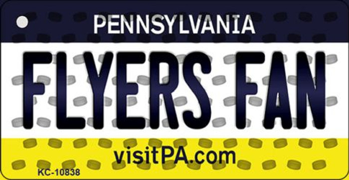Flyers Fan Pennsylvania State License Plate Key Chain KC-10838