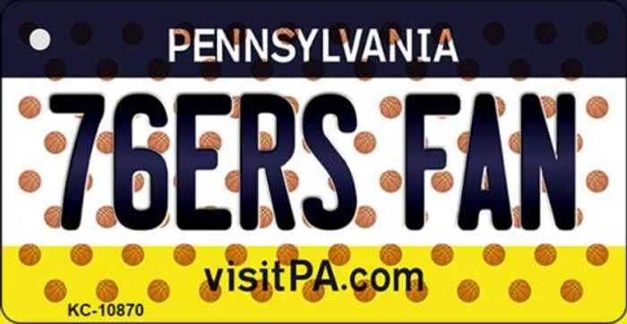 76ers Fan Pennsylvania State License Plate Key Chain KC-10870